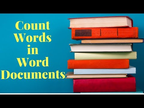 How to count words in word documents?