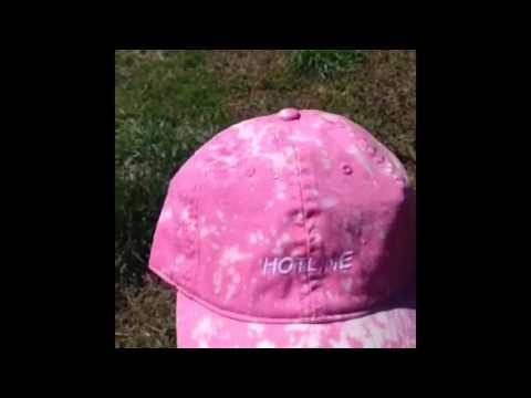 DIY Acid Wash Hat Tutorial
