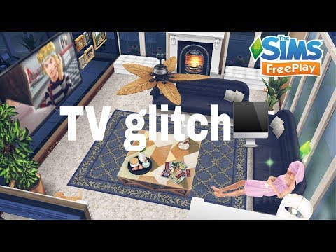 TV Glitch {How to leave the TV on} - Sims Freeplay | Adalia Sims
