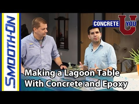 How to Make a Concrete and Epoxy Table with an Undermount Lagoon Aquarium