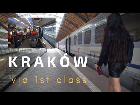 [4K] Kraków Rynek (Cracow) Poland Old City + 1st Class Journey via OBB Rail