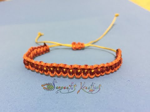 How to make Rakhi/Bracelet  with jute thread at home / Rakhi Special Part - 4