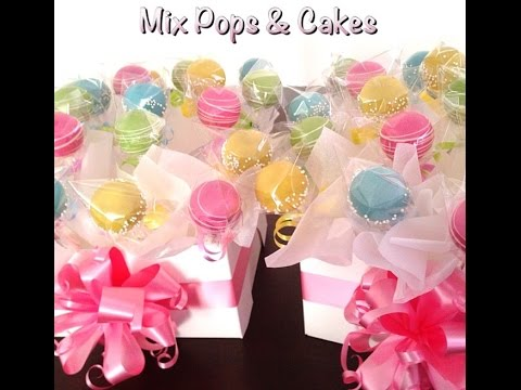 DIY Cakepops display gift box