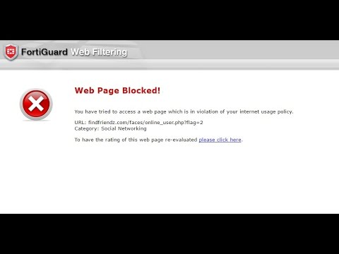 How to bypass/unblock websites fortiguard Webfilter using simple menthod