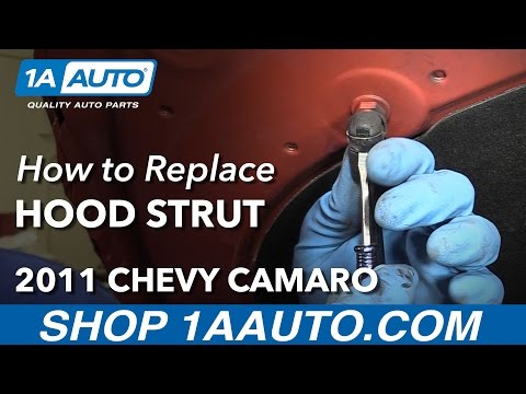 How to Install Replace Hood Strut 2011 Chevy Camaro