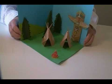 Native American Village Diorama