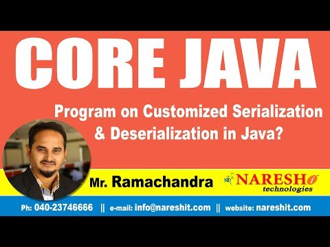 Core Java Tutorial | Program on Customized Serialization and Deserialization in Java ?