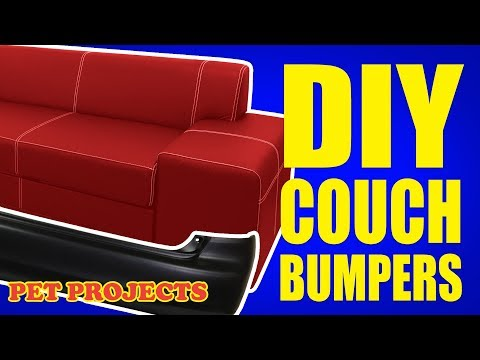 $5 custom invisible toy blockers!  - EASY DIY PROJECT | How to make couch bumpers - PET PROJECTS