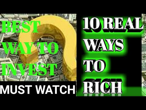 Top 10 best ways to become wealthy by your investment - REAL WAYS ONLY...!!..grow investment - Hindi