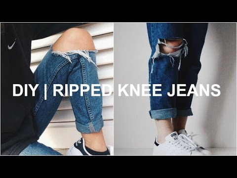 DIY | Ripped Knee Jeans
