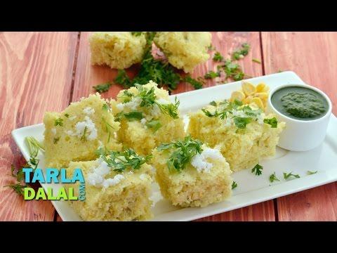 इंस्टेंट कॉर्न ढोकला (Instant Corn Dhokla) by Tarla Dalal