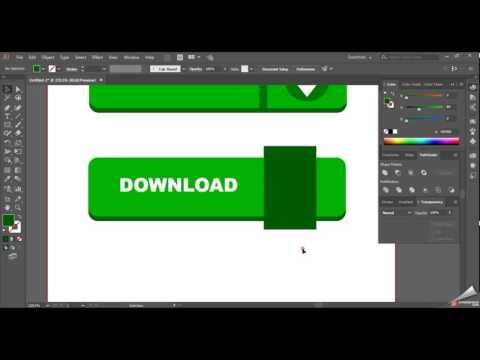 Learn How to Create a Vector Download Button in Adobe Illustrator