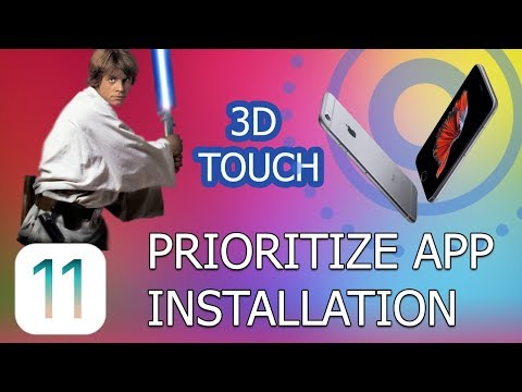 How to Prioritize App Installation 3D touch (iOS 11)
