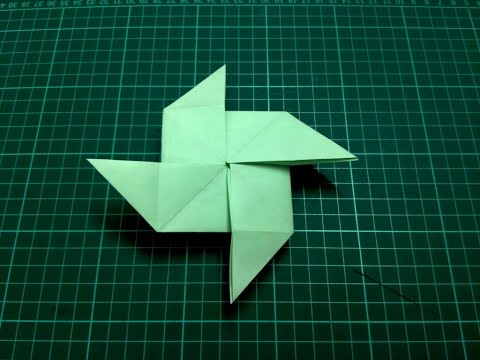 How to make origami paper pinwheel / windmill | Origami / Paper Folding Craft, Videos & Tutorials.