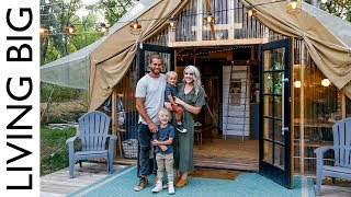 Back To Nature Living In A Beautiful Tiny House Tent