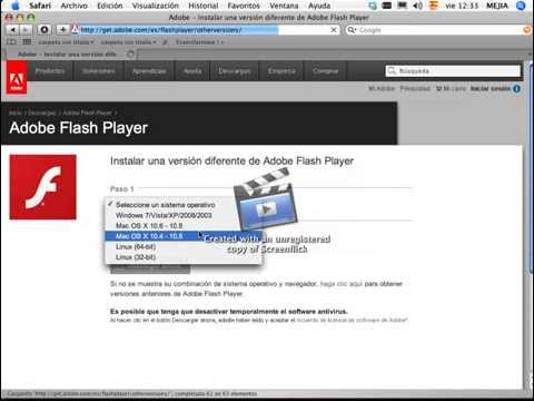 flash player mac 10.4.11