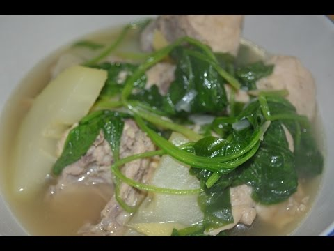 Chicken Tinola Filipino Recipe with Papaya - Chicken Soup Lutong Pinoy