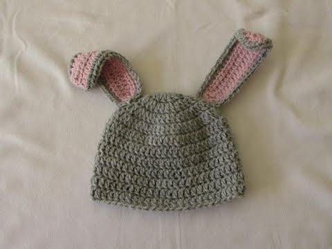 VERY EASY crochet baby / child's bunny hat tutorial - Part 1