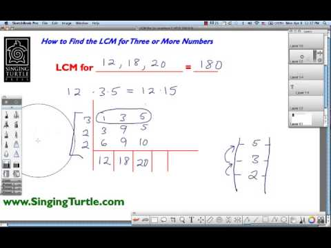 Find LCM for 3 or More Numbers