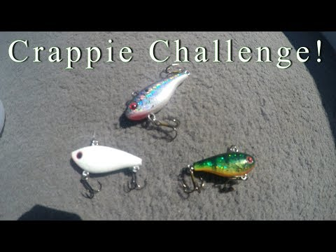Crappie Fishing CHALLENGE 2017 !! Tiny Ice Fishing Lures !