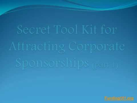 Non-Profits, Get Your Corporate Sponsorship Tool Kit (part 1)