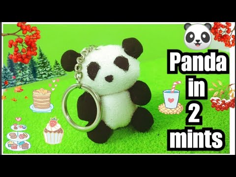 How to Make 🐼 Panda 🐼 Key Chain in 2 mints with Cotton balls | DIY Panda Key Chain