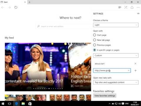 How to Change Your Homepage in Microsoft Edge