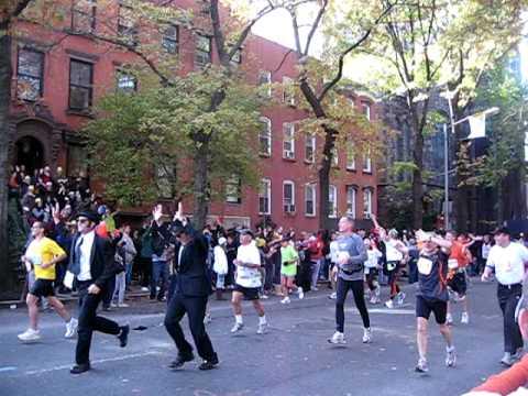 YMCA during NYC Marathon in Ft. Greene, Brooklyn