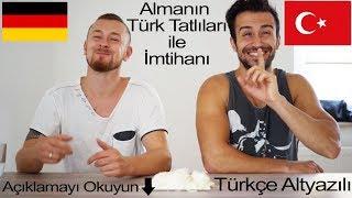 Alman Arkadaşım Türk Tatlılarını Tadıyor (Türkçe Altyazılı)