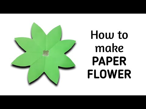 How to make simple & easy paper flower - 2 | Kirigami / Paper Cutting Craft Videos & Tutorials.