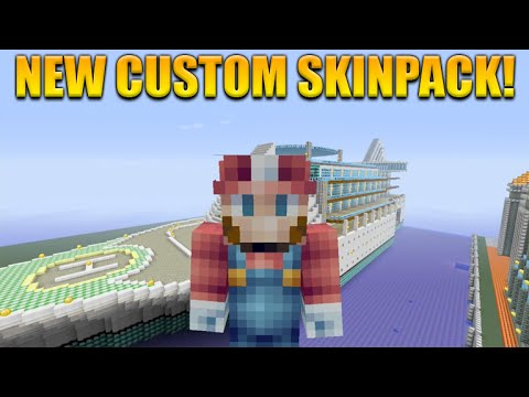 ★Minecraft Xbox 360 + PS3: Cool New Custom Skin Pack Showcase + Texture Pack★
