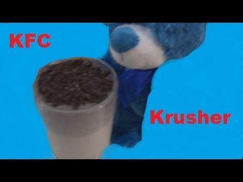 How To Make KFC Krusher Smoothie! Cookies and Cream!
