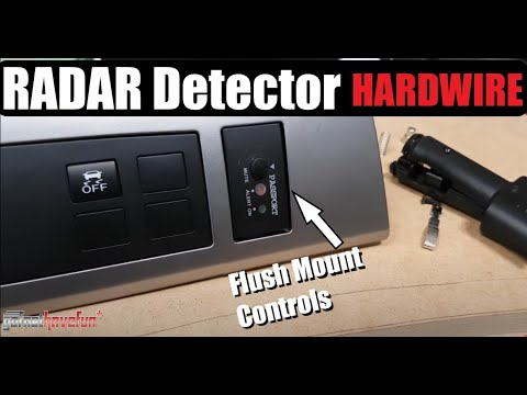 Hardwire Radar Detector Install plus FLUSH MOUNTED Controls
