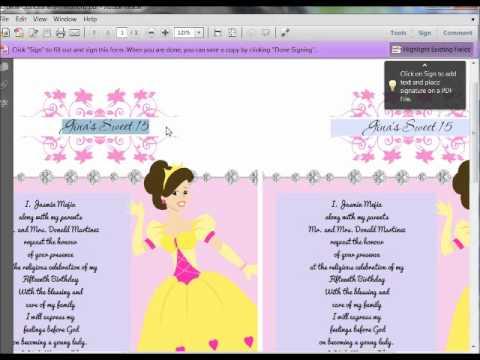 Print your Own quinceanera invitations at QuinceaneraPrints.com