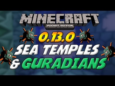 MCPE 0.13.0 GAMEPLAY! - Guardians & Sea Temples! - Minecraft Pocket Edition Concept