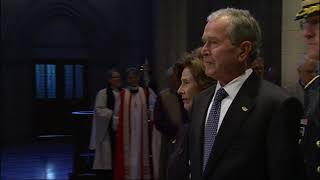 Bush casket arrives at National Cathedral