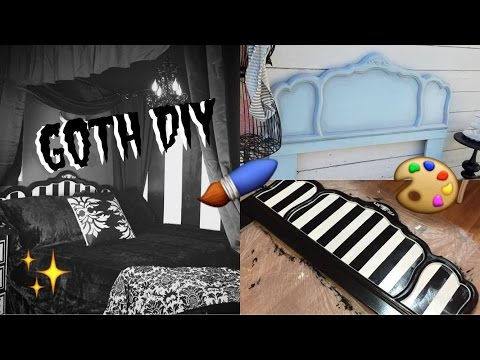 Goth DIY: Painting Vintage Furniture