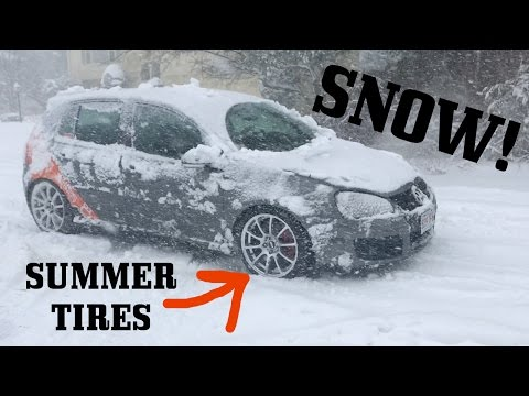 GTI on Summer Vs Winter Tires... IN SNOW!