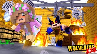 WOLVERINE.EXE ATTACKS LITTLE KELLY?! | Minecraft Little Kelly