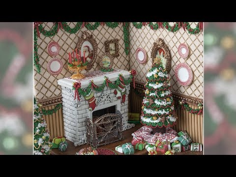 3-D Christmas Fireplace Cookie