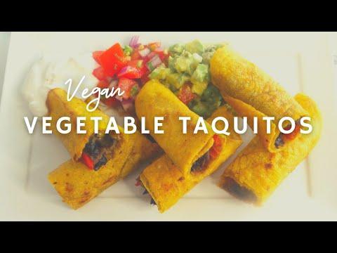 Savory Crispy Vegan Taquitos | Gluten-free | Korenn Rachelle