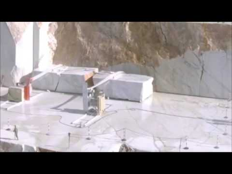 How does marble stone are mining and making into slabs and tiles