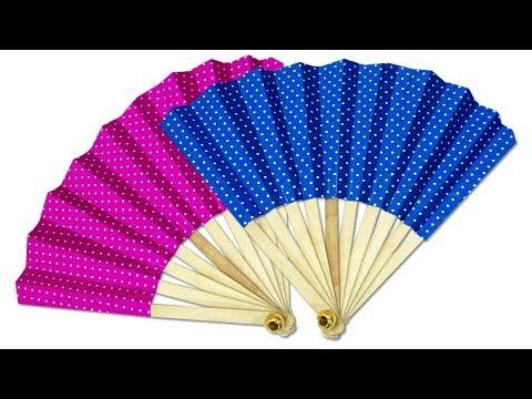 Easy Folding Paper Fan Making | How to Make Japanese Fan | Kids Craft Idea