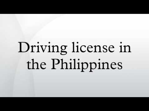 Driving license in the Philippines