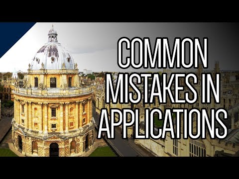 Common mistakes in Oxford applications