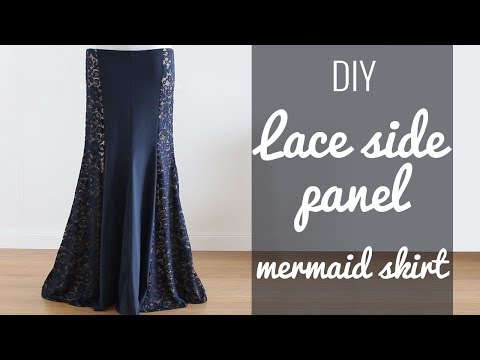 DIY Lace Side Panel Mermaid Skirt (BDCW pattern hack!)