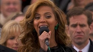 Beyonce National Anthem at Presidential Inauguration Ceremony 2013 | ABC News