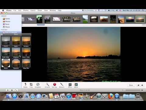 How to Edit photos via iPhoto in Macbooks and iMacs