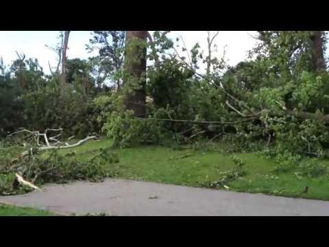 March 31 2013 storm aftermath at wabash park Ferguson St.Louis Mo
