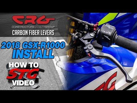 CRG 2018 Suzuki GSX-R1000 Carbon Fiber Levers Install | Sportbike Track Gear